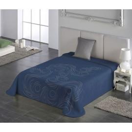 Cuvertura pat moderna albastra