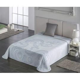 Cuvertura pat moderna bleu