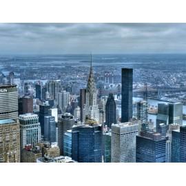 Fototapet New York in amurg