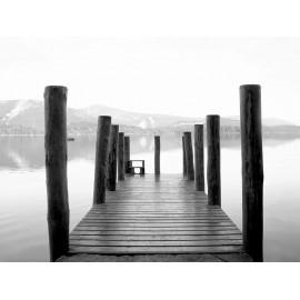 Fototapet alb-negru Lacul cristalin
