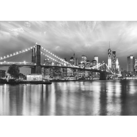 Fototapet alb-negru Brooklyn Bridge