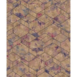 Tapet geometric hexagonal