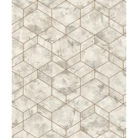 Tapet geometric hexagonal marmorat