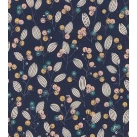 Tapet bleumarin cu flori