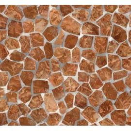 Autocolant Mozaic maro 45cm