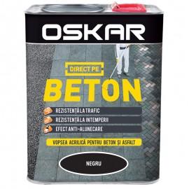 Vopsea Oskar Direct pe Beton negru 2.5L
