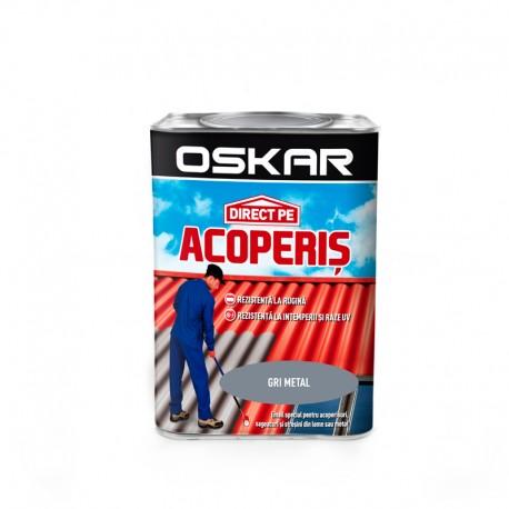 Vopsea Oskar Direct Pe Acoperis - gri metal 0.75L