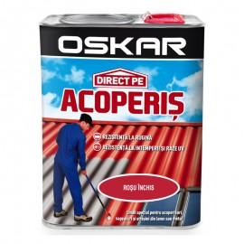 Vopsea Oskar Direct Pe Acoperis - rosu inchis 2.5L