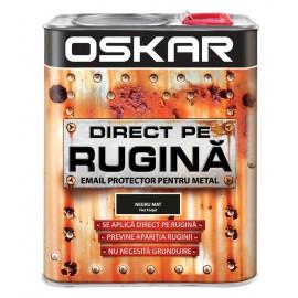Vopsea Oskar Direct pe Rugina Negru Mat Fier Forjat 2.5l
