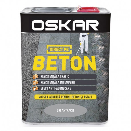 Vopsea Oskar Direct pe Beton gri antracit 2.5L