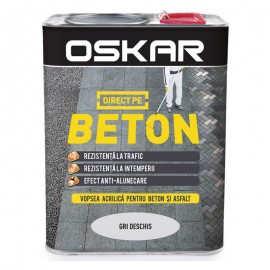 Vopsea Oskar Direct pe Beton gri deschis 2.5L