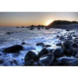 Fototapet Plaja cu stanci
