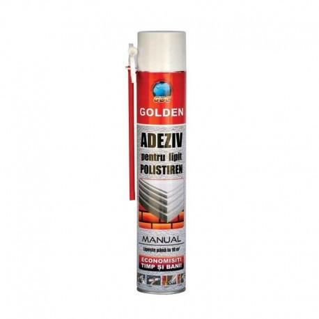 Spuma poliuretanica Golden adeziva pentru polistiren 750ml