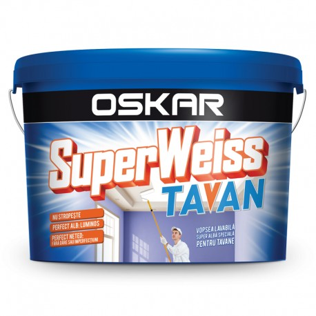 Vopsea lavabila Oskar SuperWeiss Tavan 2.5L