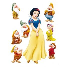 Stickere perete Walt Disney Alba ca Zapada si cei sapte pitici