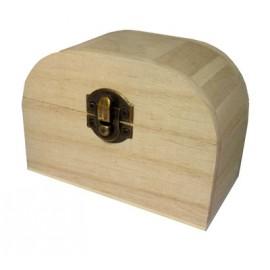 Cutie lemn dreptunghiulara cu capac semirotund
