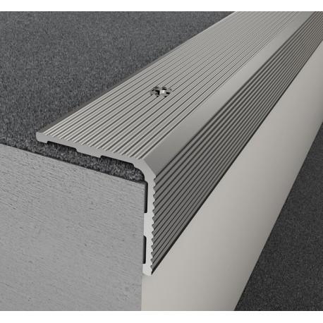 Profil treapta antiderapant Arbiton PS3 argintiu 30x30mm