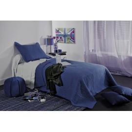 Cuvertura pat copii Mikado albastru