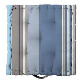 Perna decorativa podea Santacruz albastra 45x45x10cm