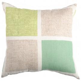Perna decorativa Color Squares verde-bej