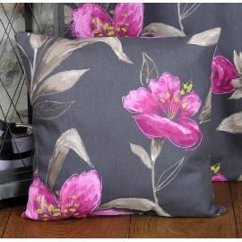 Perna decorativa Lancaster cu flori mov