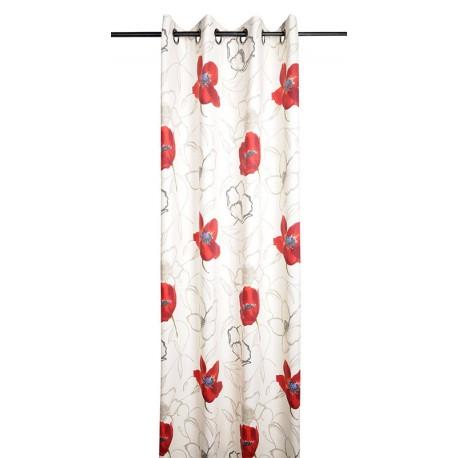 Draperie Appoline cu floare de mac