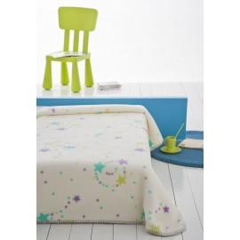 Paturica bebelusi Stelute colorate mov-verde