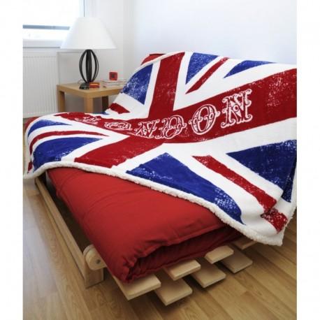 Patura pufoasa London cu steag UK