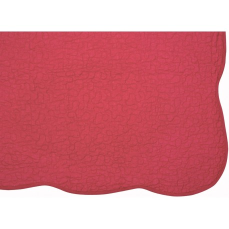 Cuvertura pat Castille rosie