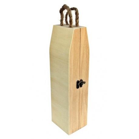 Cutie lemn decorativa pentru sticla de vin