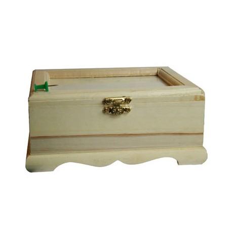 Cutiuta lemn decorativa cu capac rama foto