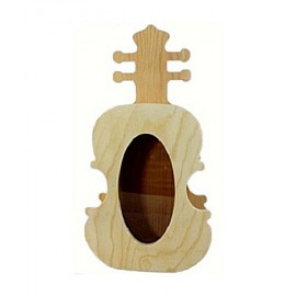 Cutie lemn cu forma de chitara