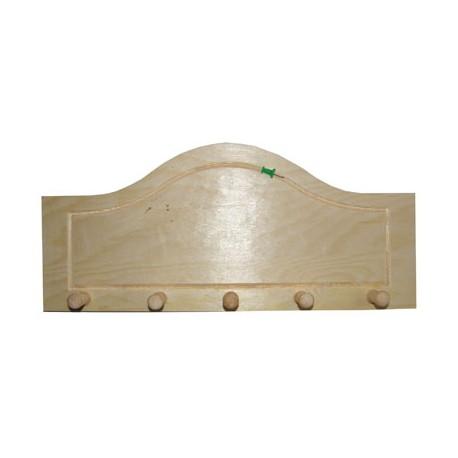 Cuier din lemn cu 5 agatatori