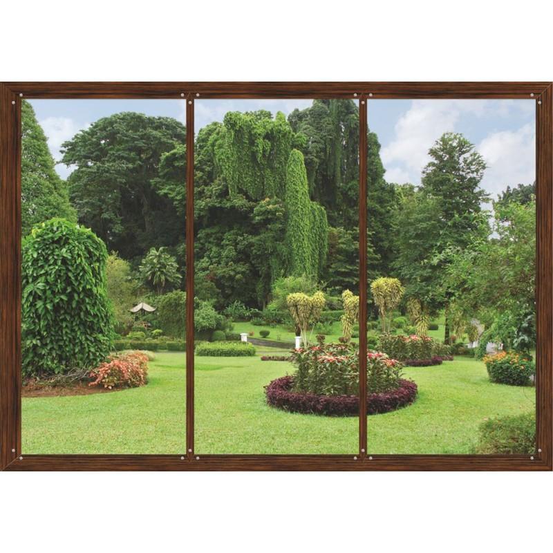 fototapet fereastra spre gradina natura in camera ta. Black Bedroom Furniture Sets. Home Design Ideas