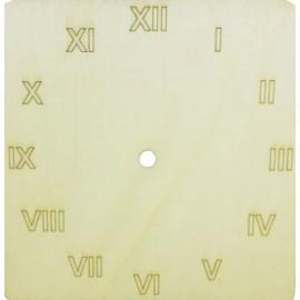 Cadran ceas de perete patrat cu cifre romane