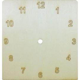 Cadran ceas de perete patrat cu cifre arabe