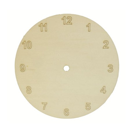 Cadran ceas de perete rotund cu cifre arabe