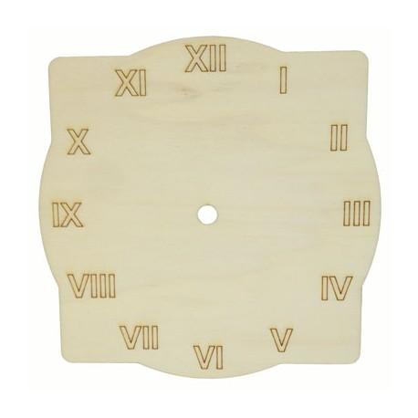 Cadran ceas de perete patrat-rotund cu cifre romane