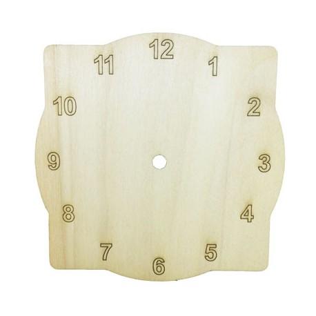 Cadran ceas de perete patrat-rotund cu cifre arabe