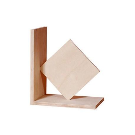Suport din lemn pentru carti - model patrat