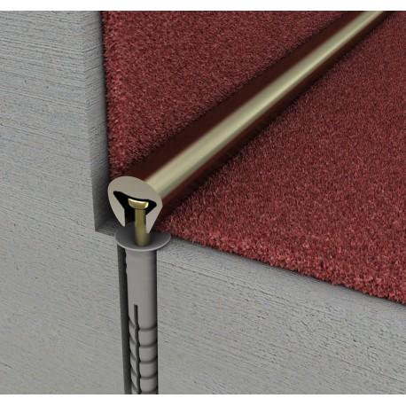 Profil fixare mocheta pe trepte PH1 argintiu