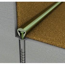 Profil fixare mocheta pe trepte PH1 auriu
