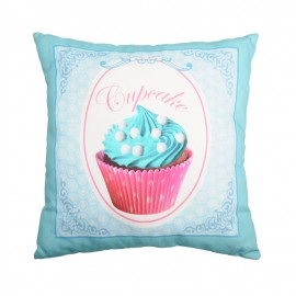 Perna decorativa turcoaz Chantilly 3 cu cupcake roz