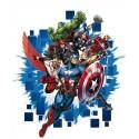 Sticker personaje The Avengers 2 pentru perete camera copii