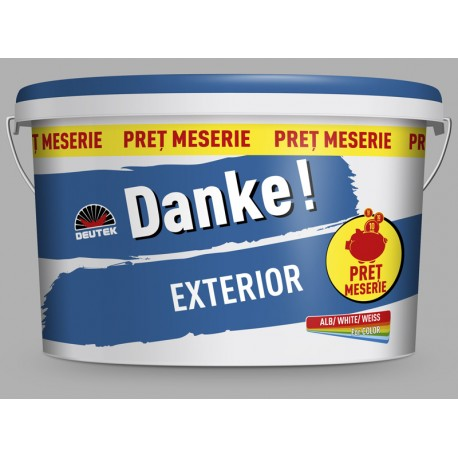 Vopsea lavabila alba Danke EXTERIOR 15L