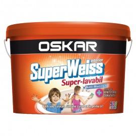 Vopsea lavabila Oskar SuperWeiss 2.5L