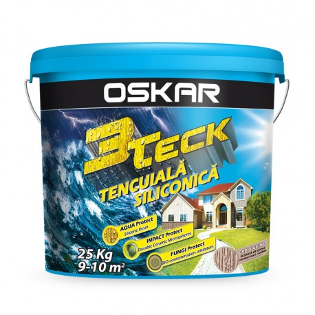 Tencuiala decorativa OSKAR 3TECK Scoarta de copac Cappuccino