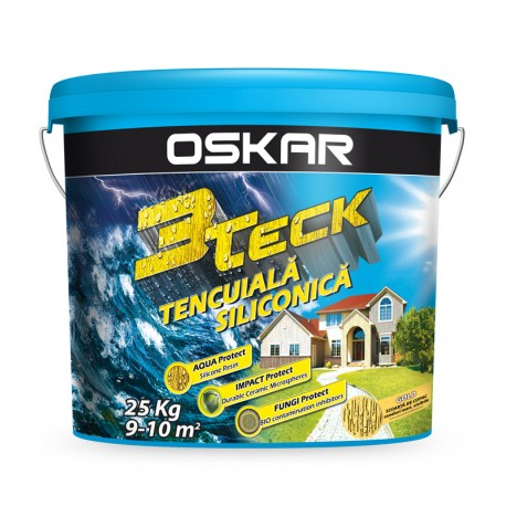 Tencuiala decorativa OSKAR 3TECK Scoarta de copac Gold
