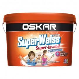 Vopsea lavabila Oskar SuperWeiss 15L