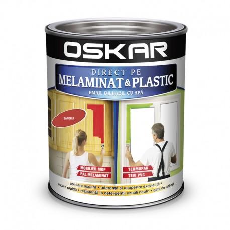 Vopsea Oskar Direct pe Melaminat si Plastic Rosu Sangria